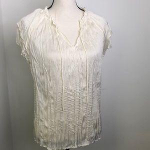 ❄️ Kaari blue white crinkle blouse